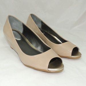 Alfani Womens Cami Toe Wedge Heels khaki